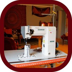 """Memmo LeatherCraft (@memmoleathercraft) på Instagram: """"Say hello to my sewing machine! 🌞 I've had this machine for about 7 years, but I haven't really…"""" Hello To Myself, Cotton Rope, Vegetable Tanned Leather, Leather Accessories, Leather Tooling, Leather Craft, Recycling, Carving, Studio"""