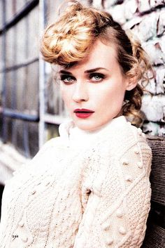 Diane Kruger by Ellen von Unwerth for Glamour March 2011