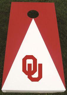 Oklahoma Sooners Cornhole #HTCRedOne