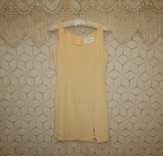 90s Sleeveless Silk Dress Sexy Mini Sheath by MagpieandOtis