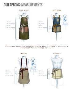 Sewing Clothes For Men Sewing Aprons, Sewing Clothes, Crea Cuir, Waiter Uniform, Barber Apron, Hotel Uniform, Restaurant Uniforms, Work Aprons, Corporate Wear