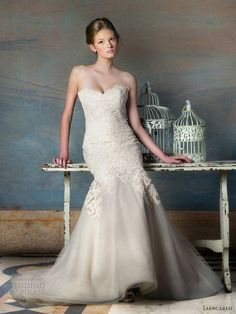 liancarlo blush wedding dresses fall 2013