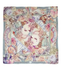 New illustrated scarves from Choulachou - via Style High Club