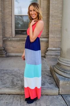 COLORS OF SUMMER MAXI DRESS