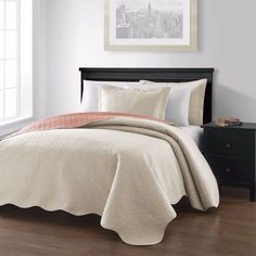 chezmoi collection mesa oversized reversible bedspread coverlet set king ivorysalmon to view further for this item visit the image link - California King Bedspreads
