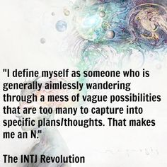The Intuition process, which serves as our dominant cognitive function, defined. This is what leads up to our Extroverted Thinking and is also why we require so much time for observation, reflection & the inevitable unraveling of potentials.   #INTJ