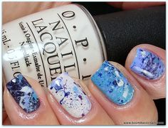 Splatter Manicure - OPI Euro Centrale Collection Spring 2013