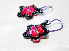 I won a pair of these AMAZING earrings from Whimsy Beading, thanks to Makeup Zombie! SQUEE!