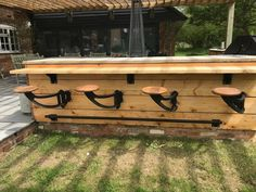 INDY Swing Arm Stool shown here attached to an outside BBQ bar area. Mounted to the bar under a counter giving a great alfresco seating option. Bbq Bar, Bar Areas, Space Saving, Counter, Indie, Stool, Arms, Dining Table, Outdoor