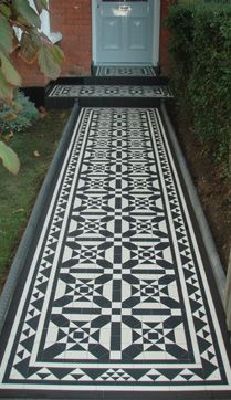 Olde English Tiles used to create a custom pattern and border