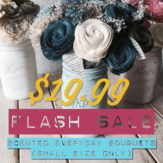 NovelExpression.etsy.com  We are ending our Fall Sale with a super awesome FLASH SALE!! 19.99  tax and shipping gets you a beautiful scented everyday bouquet. Hurry before the sale ends!! #etsy #etsysale #weddings #flashsale #craft #craftsposure #etsyshop #etsyseller #handmade #handmadeisbetter