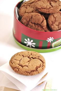 Gingersnaps – with Fresh Ginger | Ambika's Kitchen