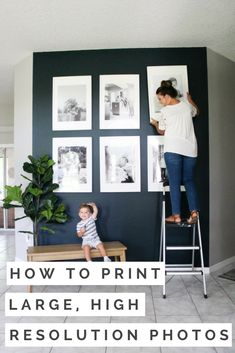 Create a gallery wall for your home using large, high resolution photos. Here's where you can find the frames, print your images, and turn your images into high resolution photos.