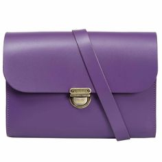 43637cbc37b8 Helena Royal Plum Purple Cross Body Bag European Cow Hide Leather Purple  Leather