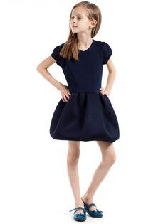 18c1e6e84316 Rochie de copii cu mânecă scurtă KIDIN - albastru inchis. AlbastruKids  FashionChild ...