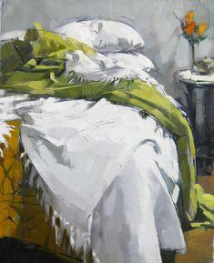 Cozyhuarique Green Blanket   -   Maggie Siner , 2013 American b.1951-