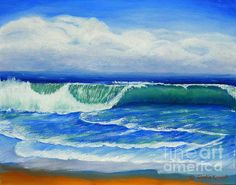 Title:  A Wave To Catch   Artist:  Shelia Kempf   Medium:  Painting - Oil On Canvas