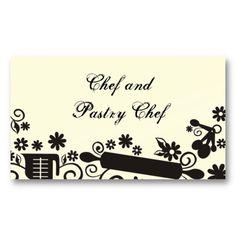 Baker baking pastry chef utensils white business c business card template.  Cream