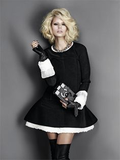 Karolina Kurkova in Chanel, photographed by Giovanni Gastel for Glamour Italia November 2013