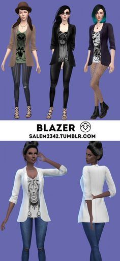Salem2342: Blazer • Sims 4 Downloads