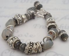 Chunky Agate and Silver - I have some ugly agate like this. looks good combined with silver kak