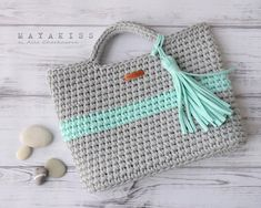 Alla Čerkasova Free Crochet, Knit Crochet, Cotton Cord, Creative Bag, Crochet Purses, Crochet Bags, Finger Knitting, Craft Bags, T Shirt Yarn