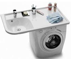 Solutions pour intégrer un lave-linge dans la salle de bains.