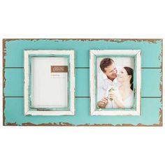 "5"" x 7"" Blue & White Pallet 2-Opening  Frame"