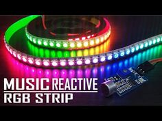Hello guys, in this tutorial I am going to show you how to make DIY music reactive RGB Led Strip, So let's get started :) Find electronic components on https. Simple Arduino Projects, Led Projects, Electrical Projects, Arduino Led, Arduino Programming, Arduino Sensors, Diy Electronics, Electronics Projects, Diy Music