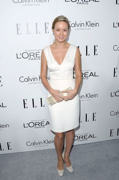 Brie Larson in Calvin Klein Collection at the Elle event.