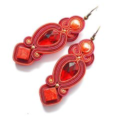 Hey, I found this really awesome Etsy listing at https://www.etsy.com/listing/211665691/soutache-earrings-earring-coral-long