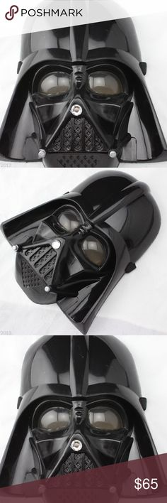 Darth vader mask It's made of plastic,suitable for adults and or children,for  Concert,birthday party,festival,entertainment live show,cosplay prop Other