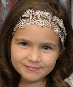 This Black Vintage Pearl Leaf Lace Headband is perfect! #zulilyfinds