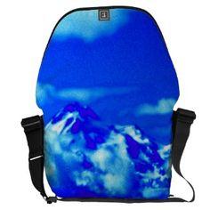 Mystical Mount Shasta in Blue SDL Bag 2 Messenger Bag