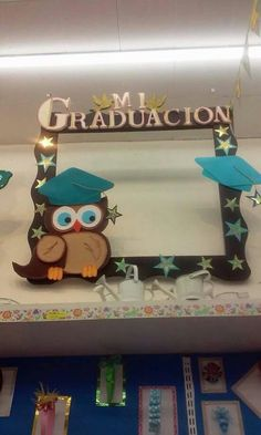 A Graduation Scrapbook, Graduation Crafts, Graduation Open Houses, Kindergarten Graduation, Graduation Day, Graduation Photos, Graduation Party Centerpieces, Graduation Decorations, School Decorations
