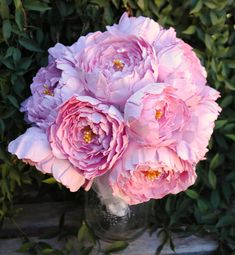 Paper Peony Wedding Bouquet - Pink Flowers - Peony Bridal Bouquet - Handmade Pink Peonies - Custom Colors Available