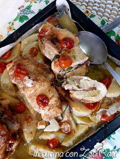 Sovra cosce di pollo ripiene al forno - In cucina con Zia Ralù Zia, Good Food, Chicken, Recipes, Friends, Amigos, Recipies, Ripped Recipes, Boyfriends