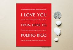 I Love You From Here To PUERTO RICO art print