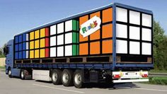 More freight carriers should have trucks like this. Cubes, Cool Cube, Cube Puzzle, Mosaic Art, Happy Birthday, Trucks, Cool Stuff, Rubik's Cube, Puzzles