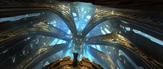 Sci-fi interior, emmanuel shiu on ArtStation at https://www.artstation.com/artwork/ELgzA