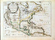 1704,  L'Amerique septentrionale, ou la Partie Septentrionale des Indes Occidentales ou se trouve le Canada ou Noulle France... Paris, 1704. Jean Baptiste Nolin.