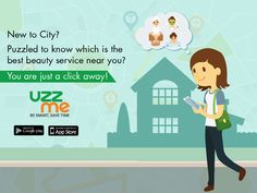 Searching for the best beautician within your vicinity is not at all a difficult task now. Book your nearest Beauty professional service by downloading the UzzMe App. Install now. #UzzMeApp #savetime #easyguide #Hyderabad #lookbeautiful #quickguide