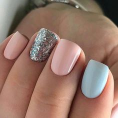 UV gel: the good tips for choosing it - My Nails Cute Acrylic Nails, Acrylic Nail Designs, Cute Nails, Stylish Nails, Trendy Nails, Short Gel Nails, Short Square Nails, Dipped Nails, Pretty Nail Art