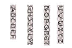 Free Charted Peyote Stitch Patterns: Alphabet Pattern for Peyote Stitch