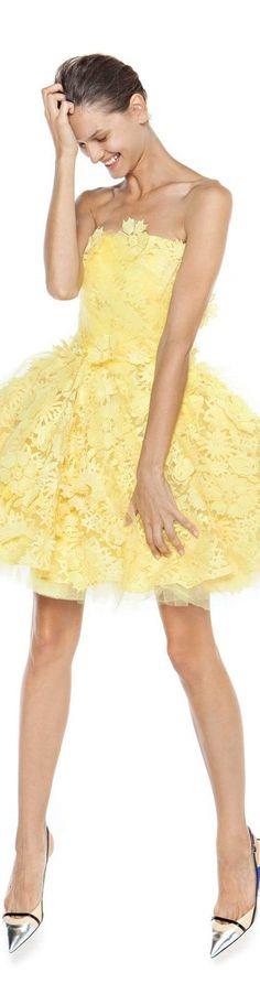 Christos Costarellos spring summer 2016 for my little yellow chick! Christos Costarellos, Jaune Orange, Mellow Yellow, Bright Yellow, Color Yellow, Yellow Fashion, High Fashion, Womens Fashion, Shades Of Yellow