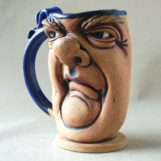 SNOB a one of a kind face mug by Herksworks on Etsy, $40.00