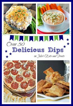 50 delicious dips from some of your favorite bloggers, including everything from sweet to savory. So grab a dip and get the party started!