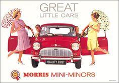 "Morris Mini Minors - ""Great Little Cars"""