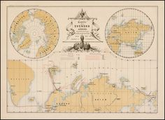 Scarce Swedish map showing the discoveries of Swedish Arctic explorers in the 19th Century, including:      S. Loven, 1837#     O. Torell, 1857, 1858, 1859, 1861    # A.E. Nordenskiold, 1864, 1868, 1870, 1872-73, 1875, 1876 and 1878-80.