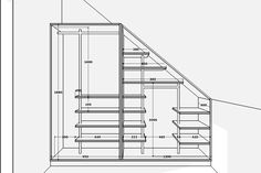 Garderoba pod skosem Bytom | Studio meblowe BESI Attic Bedroom Storage, Attic Rooms, Attic Spaces, Closet Bedroom, Corner Wardrobe, Attic Wardrobe, Under Stairs Storage Solutions, Stairway Storage, Loft Closet